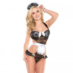 Coquette French Maid Teddy UK 8 to 14