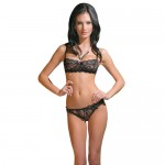 Coquette Foral Lace Print Bra and Panty