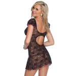 Coquette Kissable Black Lacey Dress UK 8 to 14