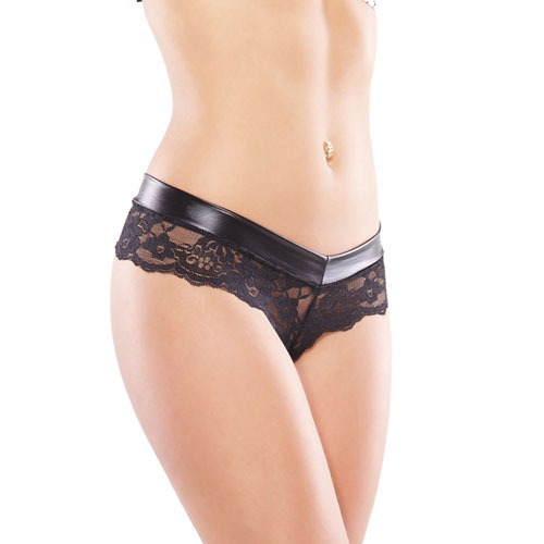 Coquette Low Rise Wet Look Chain Panty UK 8 to 14